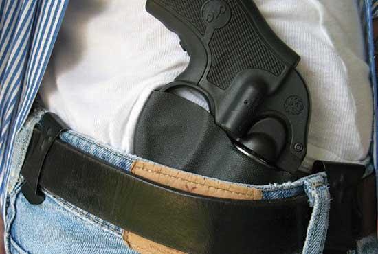 J frame revolver IWB holster