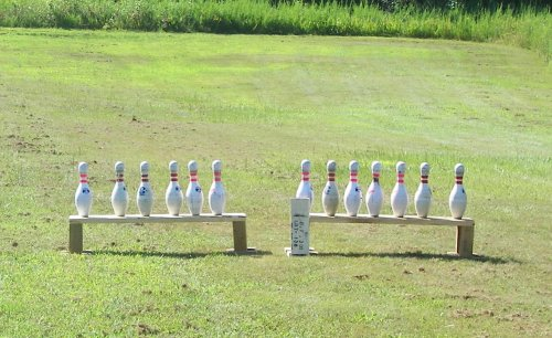 Bowling Pins For Pistol And Revolver Targets