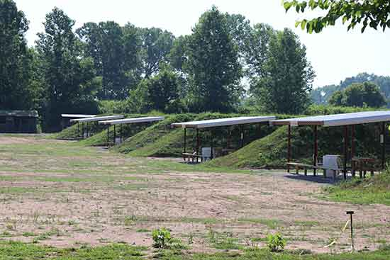 New deep pistol bays at the Old Fort Gun Club