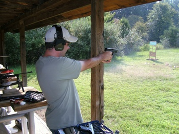 S&W Military and Police .40 cal in action