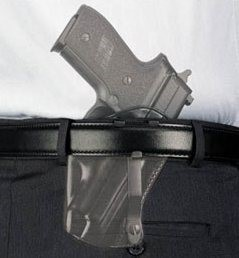 Hammer Fired Pistol In IWB Holster