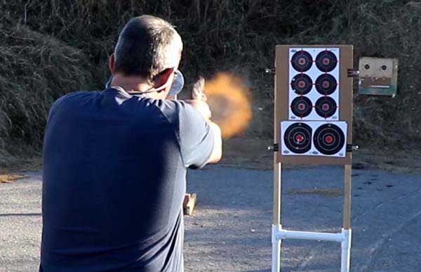Muzzle blast from Taurus .357 magnum using .357 magnum loaded with 158 grain bullets