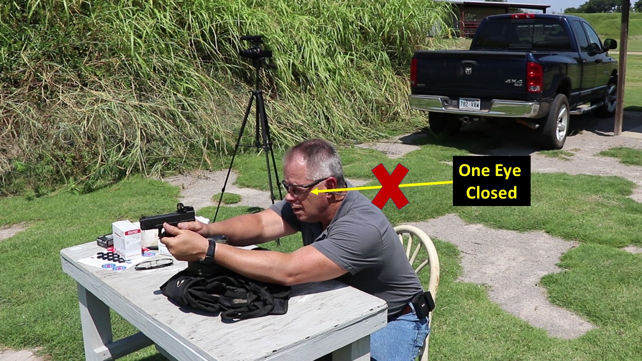 Closing One Eye Shooting with Red Dot