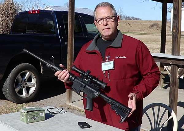 Owner holding a Ruger AR-556