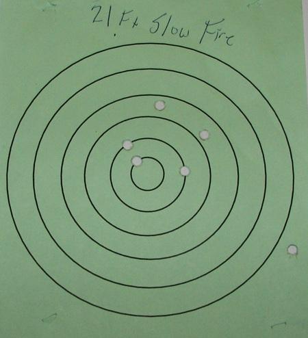 S&W 638 Revolver 21 ft Target
