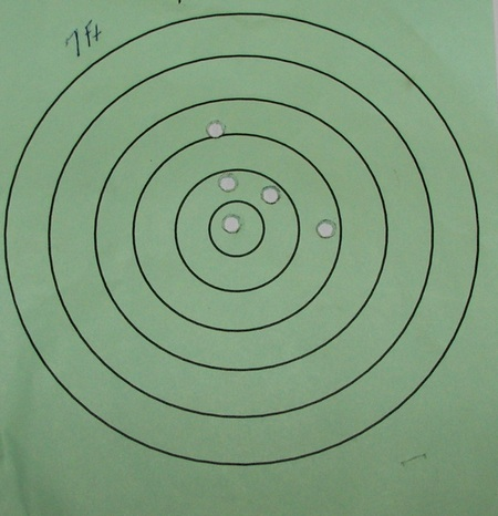 S&W 638 Revolver Target Results Picture