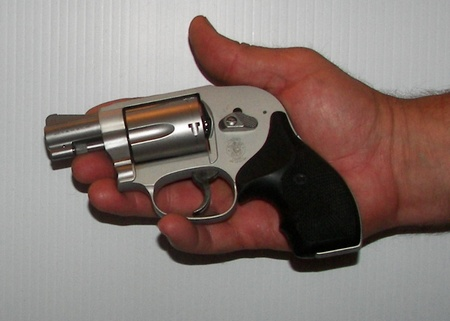 Palm Size Smith and Wesson 638 Airweight Revolver