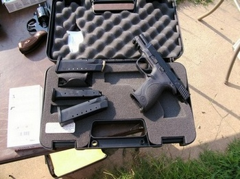 Smith and Wesson Military and Police, .40 cal in the case