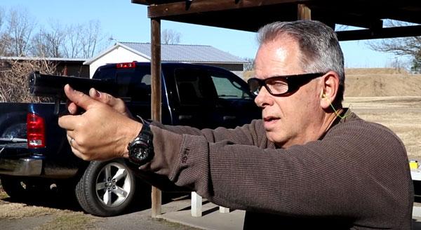 Taurus TX22 in a shooting grip