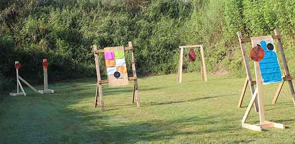 Old Fort Gun Club pistol bay target setup