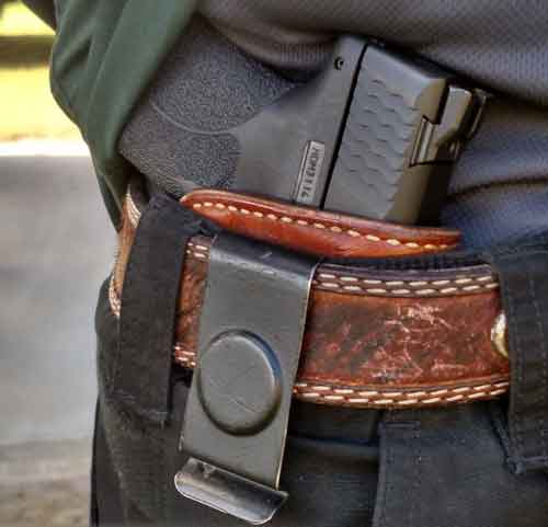 S&W Shield .45 ACP in a IWB holster