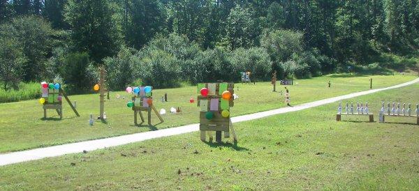 Creative Gun Range Target Setup