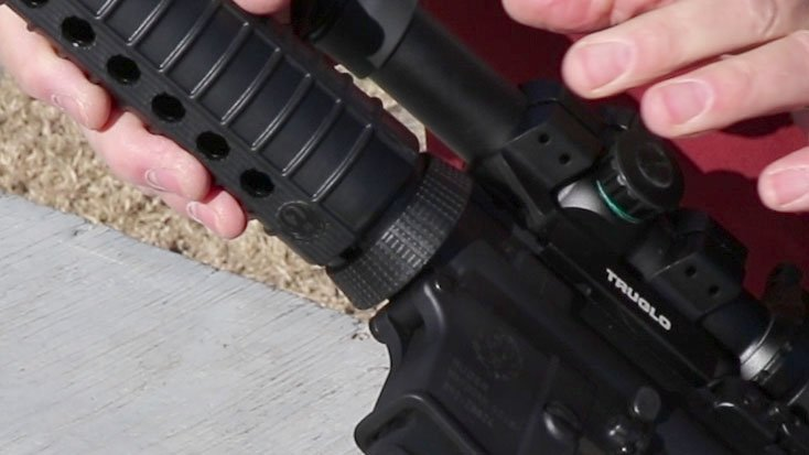 Ruger AR-556 handguard and Delta ring to tighten the guard