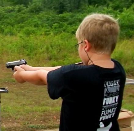 Kid Shooting Ruger SR9c .9mm