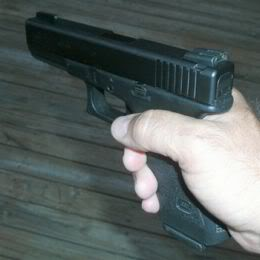 GLOCK pistol in hand