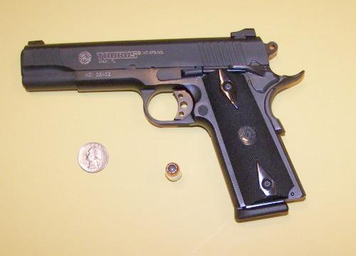 Taurus PT1911 .45ACP size picture