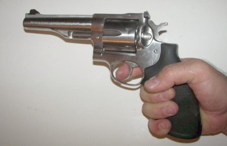 Gripping A Large Revolver