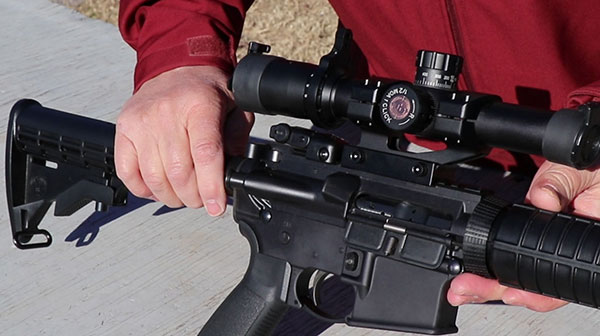 Ruger AR-556 rear sight, dust cover, and forward assist plunger