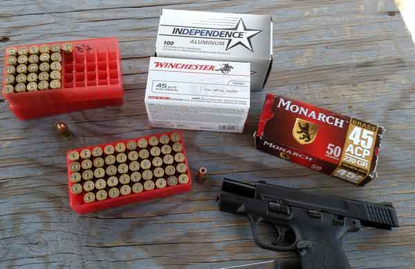 Smith And Wesson Shield .45 ammo