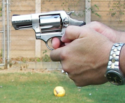 Correct Two handed grip on a revolver