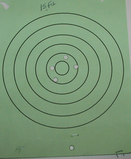 15 ft S&W Revolver Target Picture