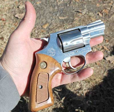 Taurus Model 85 Revolver in the palm of my hand