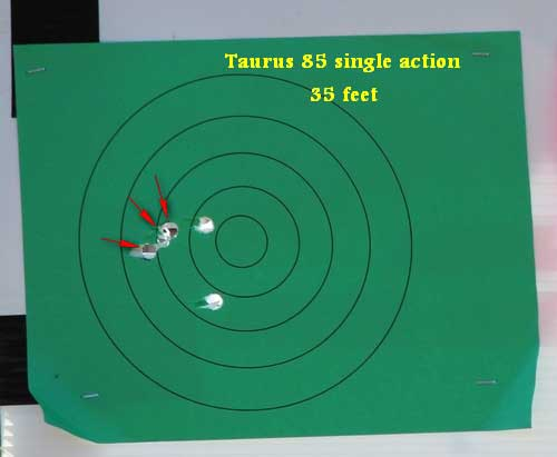 Taurus Model 85 .38 Special Target Results