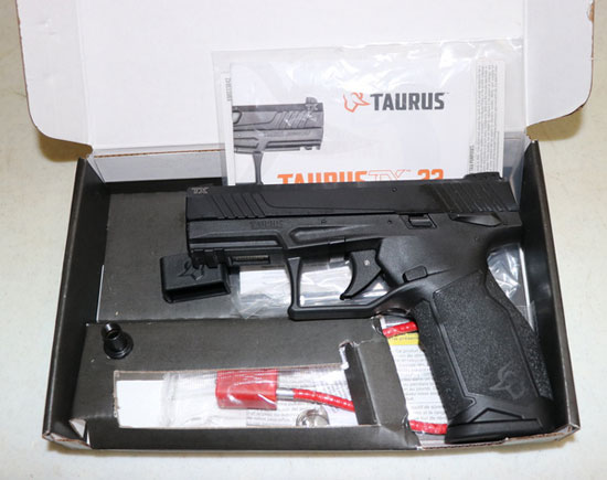 Taurus TX22 in the box