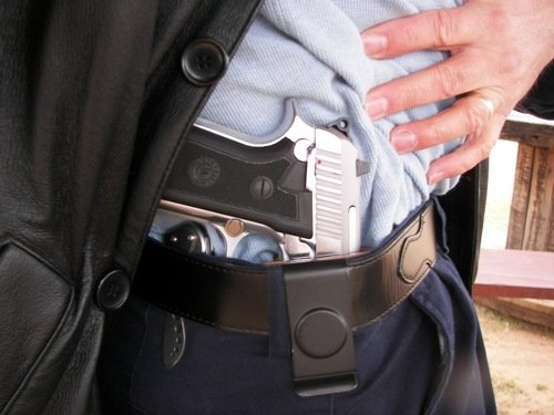 Taurus PT917CS in an IWB concealed holster