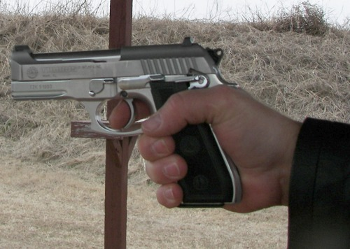 Taurus PT917CS in my hand