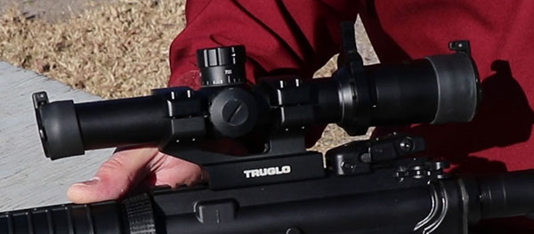 TruGlo 6 power scope mounted on a Ruger AR-556 Rifle