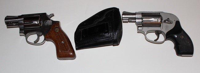 J Frame Revolvers With IWB Leather Holster