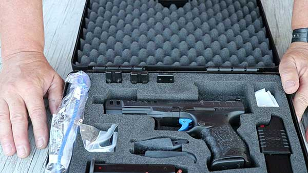 Walther PPQ Q5 Match 9mm pistol in the box