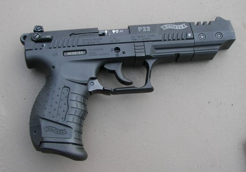 Walther P22 side view