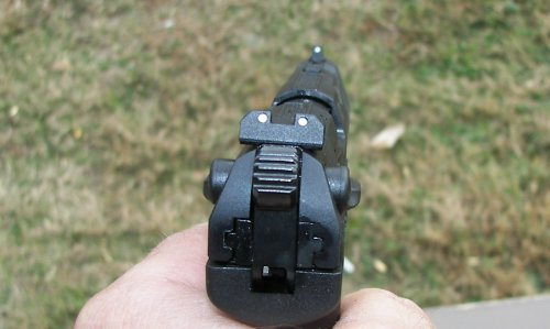 Walther P22 sight picture