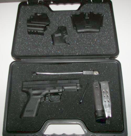 Springfield XD In The Case With Accessories